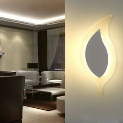 Wall Lamps For Living Room Poufs Creative Aisle Staircase Light White 5w Led Bedside Image Is Loading