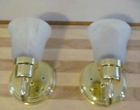 A Pair RV 12 Volt Polish Brass Wall Sconce Push Button ...