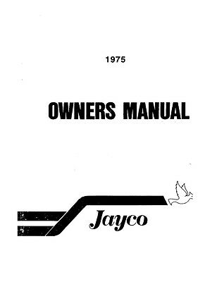 1975 Jayco Jay Duck Pheasant Popup Trailer Owners Manual