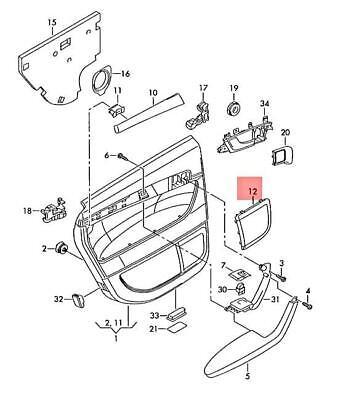 Genuine AUDI A3 S3 Sportback Lim. Quattro. Loudspeaker