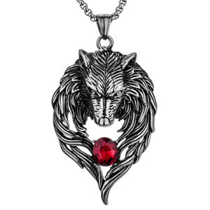 details about wolf necklace