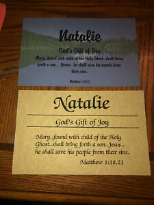 Personalized Name Poem Natalie Great Gift Biblical Faith ...
