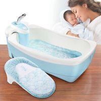 Baby Badewanne Whirlpool und Dusch Set Badesitz Babywanne ...