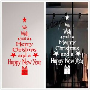 pc merry christmas new year decoration tree wall stickers window
