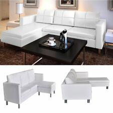 modern sofa l shape stylish beds australia white leather sectional 3 seater shaped living room item 2 couch furniture