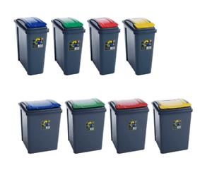 kitchen recycling bins high end faucets reviews plastic 25 50l dustbin garden waste rubbish recycle bin image is loading