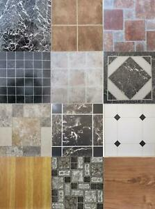 details about vinyl floor tiles squares self adhesive easy fit hard wearing various designs