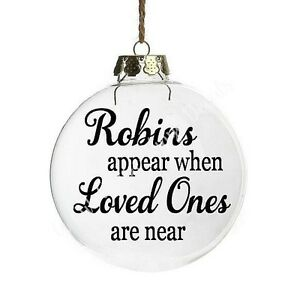 ROBINS APPEAR X2 bauble Vinyl DECAL ONLY stickers DIY