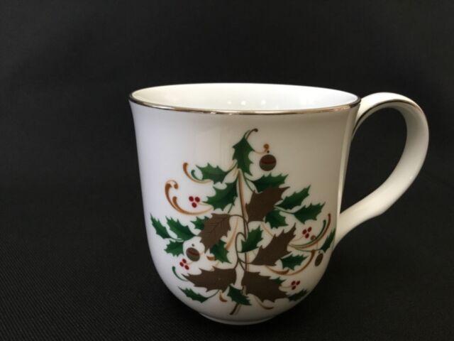 8 Noritake White Scapes Christmas Beverage Mug Stoneleigh Pattern | eBay
