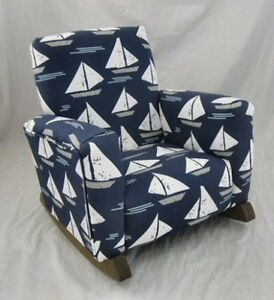 kids upholstered rocking chair upholster a new children s cape may indigo toddle rock image is loading 039