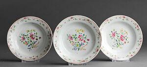 Nice Quality! 18th C Qianlong Famille Rose Porridge Plate Flower Qing Flower