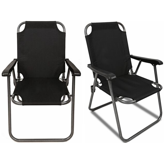 portable beach chair office for standing desk magshion lay flat folding lounge chaise recliner 2 black outdoor patio camping arm lightweight
