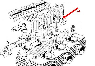 'O' rings x4 rocker box screw cover Triumph BSA T150 T160