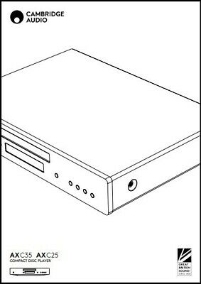 Cambridge Audio AXC35 / AXC25 CD Player Owner's Manual