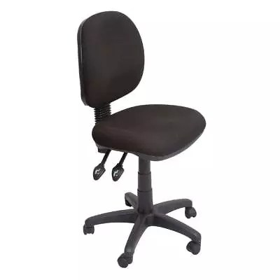 ergonomic chair levers desk mat officeworks rapidline medium back 3 lever office