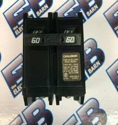 challenger type c260 circuit breaker 2 pole 60 amp for sale online ebay [ 1200 x 1600 Pixel ]