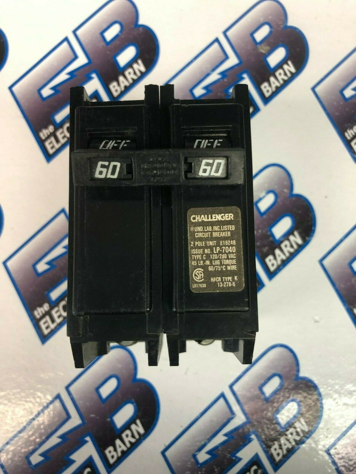 hight resolution of challenger type c260 circuit breaker 2 pole 60 amp for sale online ebay