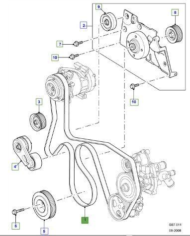 Land Rover Defender Puma Td4 2.4l Genuine Drive Belt