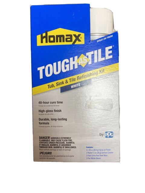 homax tub and tile refinishing kit white 32 oz aerosol tough as 041072031530