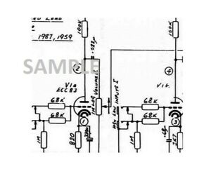 MARSHALL JCM 800 50w 100w Bass Amplifier Schematic Diagram