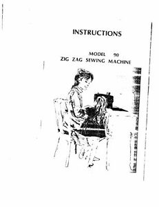 White W90 Sewing Machine/Embroidery/Serger Owners Manual