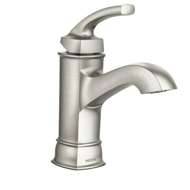 moen ws84414msrn hensley single handle high arc bathroom faucet brushed nickel
