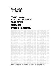 1984 1985 1986 E-Z-GO GOLF CART Electric Repair Parts