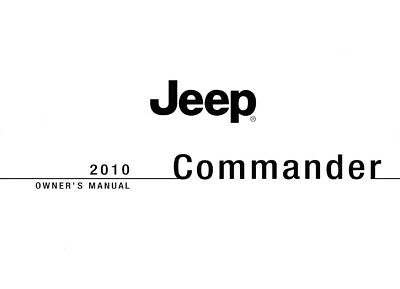 2010 Jeep Commander Owners Manual User Guide Reference