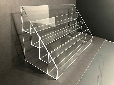 acrylic card holders greeting card display rack counter top display with 4 tier ebay