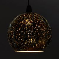 Zodiac Firework Effect Silver Ball Chrome Glass Ceiling ...