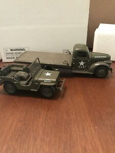 Jeep Flatbed : flatbed, Newray, G-SCALE, Chevy, Military, Flatbed, Truck, Willys, Diecast