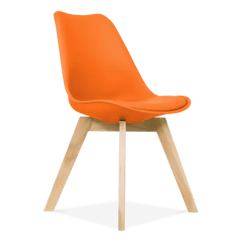 Fake Eames Chair Kids Table And Chairs With Storage Replica Burnt Orange Solid Oak Legs Dining