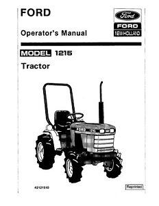 Ford 1215 Tractor Owner Operators Maintenance Lubrication
