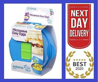 sistema microwave egg cooker scramble omlette poached eggs maker oven quick ebay