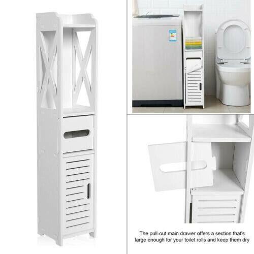 Bathroom Wall Cabinet Over The Toilet Storage Bath Organizer Rack Finish White For Sale Online Ebay