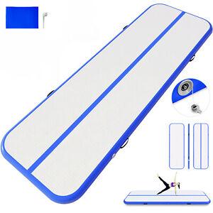 details sur 4x1m tapis de gymnastique gonflable airtrack tumbling portable piste exercice