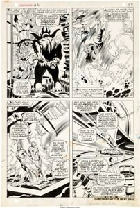 John BUSCEMA 1967 SUB-MARINER 2 pg 18 original art INHUMANS Triton Submariner