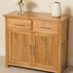 Small Storage Unit For Living Room Furnishing A Oslo 100 Solid Oak Sideboard Cabinet Image Is Loading