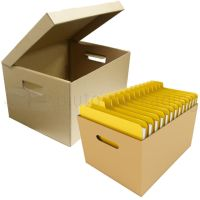 50 X Filing Archive/paper A4 Storage Boxes Carry Handle ...