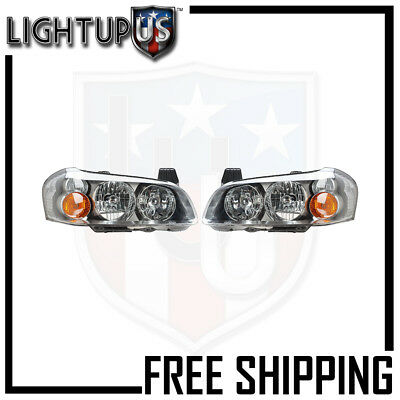 HEADLIGHT LAMP PAIR (LEFT AND RIGHT SET) FOR 02-03 NISSAN