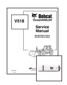 Bobcat V518 VersaHANDLER Workshop Repair Service Manual