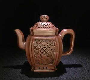Old Chinese Handmade Zisha Teapot With Jindingshaobia