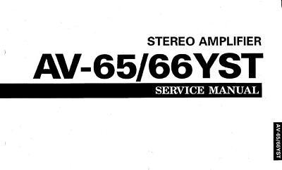 YAMAHA AV-65 AV-66YST STEREO AMPLIFIER SERVICE MANUAL INC