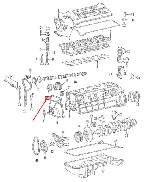 MERCEDES-BENZ C W202 Camshaft Adjuster Magnet A1040500177