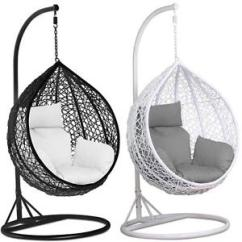 Egg Chair Swing Patio Club Chairs Rattan Garden Weave Hanging W Cushion Cover Image Is Loading