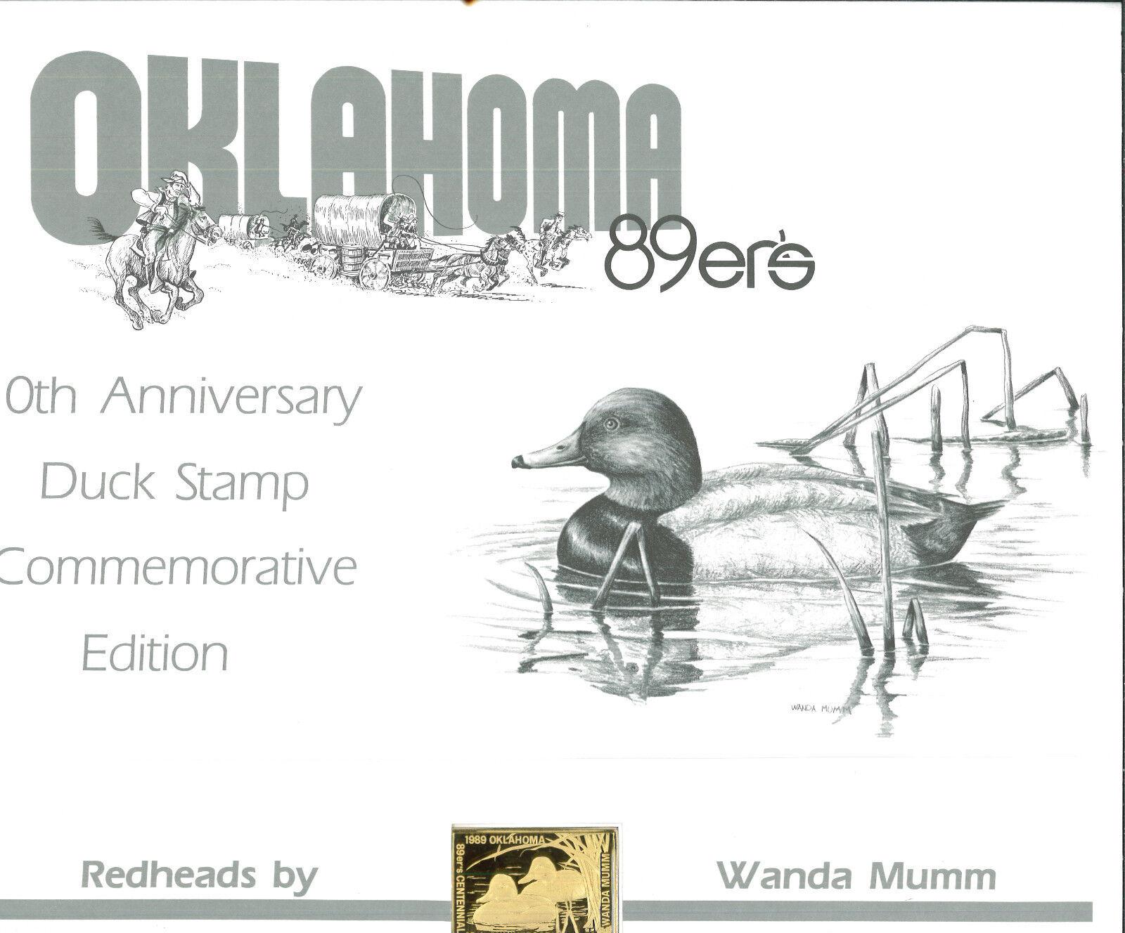 ermäßigte Bestellung Oklahoma #10 1989 Staat Ente