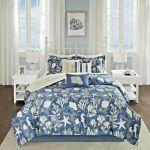 Comforter Set King Coastal Bedding Cover Blue Shams Bedskirt Decorative Pillows For Sale Online