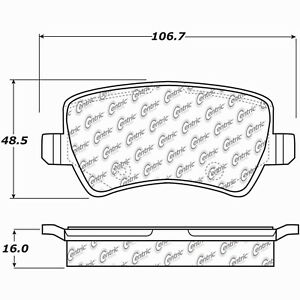 Disc Brake Pad Set-Premium Ceramic Pads w/Shims & Hardware