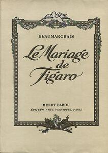 Beaumarchais Le Mariage De Figaro : beaumarchais, mariage, figaro, BEAUMARCHAIS, MARIAGE, FIGARO, MONTASSIER