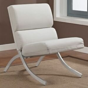 rialto black bonded leather chair cloth padded folding chairs modern white brushed metal club living room image is loading